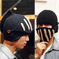 2015 Winter Beautiful explosion Mens stunning Roman knight helmet hat wool hat cap wholesale even masks