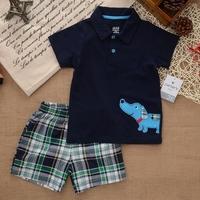 Hot Sales Carter Brand Summer Children Clothing Set Baby Boy Clothes Boy Clothes Kids Clothes Sets T-shirt+Pants Suit