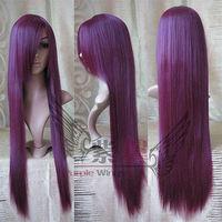 lady wigs Fashion Long Grape Purple Straight Women's wig / Free Shipping