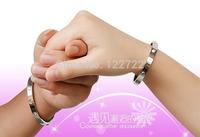 4 colors, elegant bracelets, titanium rose gold plated stainless steel round cufflinks punk Men's Fashion Jewelry Bracelet