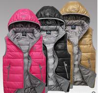 Winter women duck down vest brand A.D.vest women casual brand vest L,XL,XXL,XXXL,wholesale free shipping