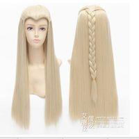 70cm The Hobbit Thranduil Long Anime Cosplay Wig Kanekalon Fiber no lace Hair wigs Free shipping
