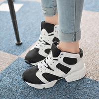 Newest 2014 autumn fashion women shoes leapord pattern patchwork shoelace sneaker shoes woman canvas platform shoes  XY416