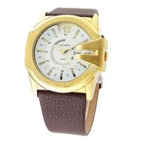 BRAND CAGARNY men's military genuine leather fashion sport watch atmospheric clock quartz watches luxury waterproof  Wristwatch