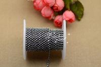 Free shipment Fashion handicrafts 2mm Crystal  rhinestone Gun Black chain  for sewing accessories