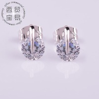 Fashion 2014 AAA Cubic zircon luxury shiny big carat ladies earings for women free shipping ED003