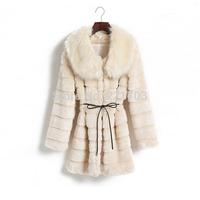 3 color Hot sale Winter coat women 2014 New High Quality Faux Fur coat ,Mink Fur collar long Slim jacket women 02