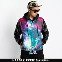 hardlyevers trend of Harajuku style universe Star baseball shirt men's long-sleeved jacket
