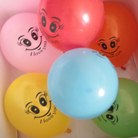 Smiley magic balloon multi-color blended-color balloon The whole package number 100 Free Shipping gy30001