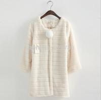 Winter coat women 2014 New High Quality Faux Fur coat ,Rabbit Fur Slim jacket women 03
