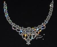 Free shipment Costume Wedding Dress crystal  Rhinestone Applique  Garment Accessories Sewing On Extra large silver trim