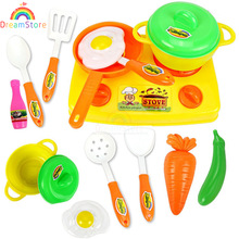 13pcs/set Child Kitchen Toys Set Classic Toys Cooking Tools Kids Pretend Play simulation Baby Girls Educational Role playing toy(China (Mainland))