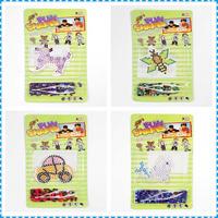 2pcs/lot New Popular Educational Toys Perler Beads Jigsaw Puzzle DIY Hama Beads Toys Making Kit