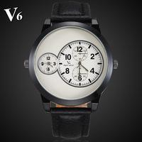 new 2014 fashion sport V6 stylish army white dial orange index rubber high quality stylish gift men male wrist quartz watch