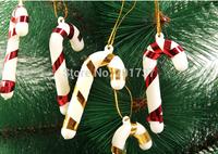 500pcs/lots wholesale 2014 Crutch Christmas Tree Ornament, Christmas Tree  Decoration Christmas Gift-free shipping
