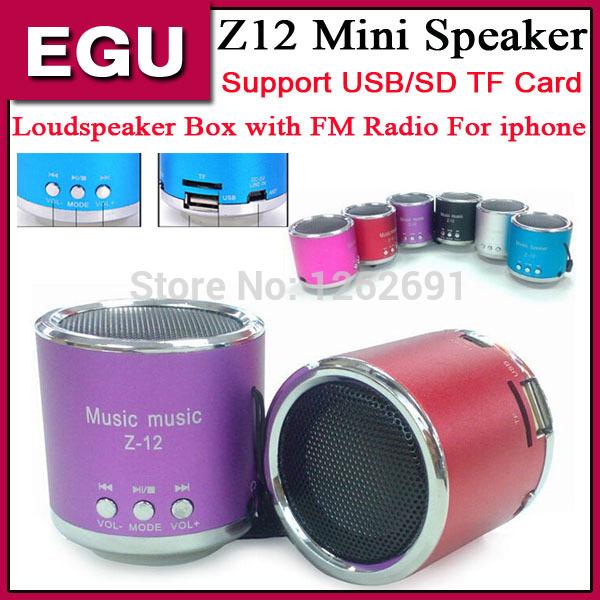 Portable Mini speaker Z12 Z-12 Angel Kaidaer Music digital audio radio stereo speakers USB/SD TF FM Radio For iphone6 I6 5/5S A(China (Mainland))