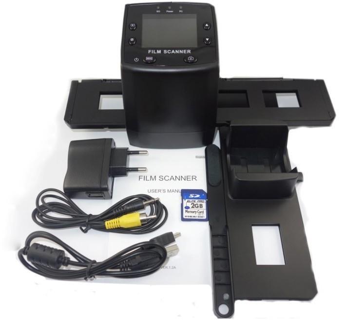 Free shipping 5MP 35MM Negative Film Slide Scanner Digital photo scanner SD PC Storage(China (Mainland))