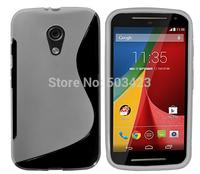 New S Line Soft TPU Gel Skin Cover Case For Motorola Moto G2 XT1063