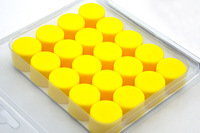Free Shipping YELLOW  NO.17 Universal Silicone Wheel Nuts Caps Bolt Covers