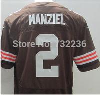 2014 Cheap  Stitched Johnny Manziel Jersey Elite White Orange Coffee 2014 Football Rookies Draft Jerseys Cleveland 2# Elite