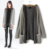 Long Style Women Sweater Coat For Women Slim Casual Knitwear With Hooded Autumn Winter Thicken Caridgans Women