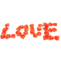 500pcs Orange Silk Rose Petals Wedding Engagement Party Table Confetti Decorations Wedding Favors