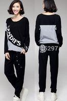 fashion women big size sportwear set sweatshirt with trousers plus size cotton loose comfortable clothes long sleeves XXXL