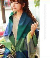 New 10Colors Women Tassels Plaid Checks Winter Long Soft Scarf Shawl Wrap
