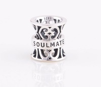 Promotion YZ119 Soul Mate Print Women Jewelry 925 Sterling Silver Slide Charms Beads For European Snake Chain