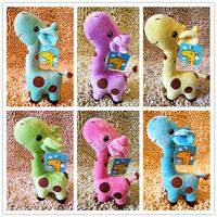 3pcs/lot 17cm send random Animal DOLL TOY Stuffed Toy Giraffe doll For Children and Girl gifts Plush TOY Free Shipping WJ001