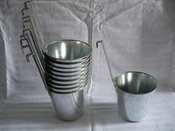 30 peças prateado de Metal planta vaso de flor gancho Planter Hanging vasos de flores de casamento banheira tapeçaria de zinco planta suporte Vertical(China (Mainland))