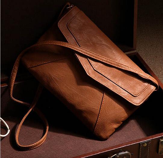 Envelope Bag Pu leather Women Handbag shoulder bags ladies vintage crossbody sling messenger bag Purses Cross body satchels(China (Mainland))