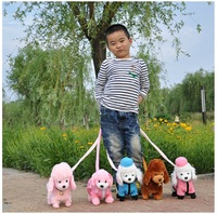 Free shipping!!Toy rope electric dog plush toy dog music robotic dog remote control dog toys electronic pet