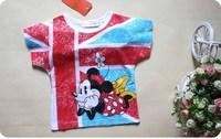 2014 New Summer Baby T shirts Mickey Boys T shirt Cotton Minnie Girl T shirt Cotton Short Sleeve 5 pieces / lot 1219