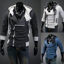 M-5XL Plus size Sports Hooded Jacket Casual Winter Jackets hoody sportswear Assassins Creed Men's Clothing Hoodies Sweatshirts(China (Mainland))