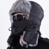 winter Warm Proof Trapper Hat, Women aviator hat,Russian Hat, sport outdoor ear flaps bomber caps for men
