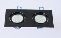 Free shipping Double aluminum LED spotlight setting wall lights ceiling lamp ceiling lamp hole hole Double light