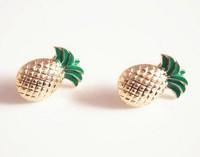 free shipping 6 pair/lot fashion women jewelry enamel pineapple studs earrings