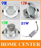 10pcs/lot   9W 12W 15W 21W  Antifogging Epistar led downlight AC85-265V Contains the  drive power free shipping