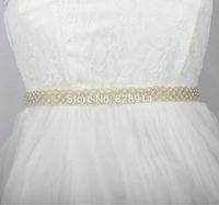 New Design Imitation Pearl Beaded Wedding Dress Sash Wedding Dress Belt Handmade 2.0cm width Ivory Color Good Quality BestMore