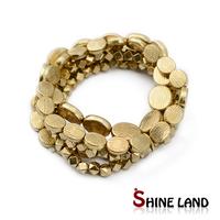 Antique gold plated 4 pcs set statement bracelet bangle for women/men designer jewelry 2014new free shipping