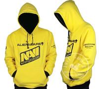 Casual Natus Vincere NAVI Cosplay Top Grade Yellow Hoodie Coat Sweater Outwear Hoodies & Sweatshirts