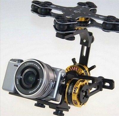Gimbal Brushless 3 Axis 4108 Motor Evvgc Controller 5N 5R Sony NEX ILDC Camera(China (Mainland))