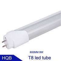 T8 LED tube light tubes lamp LED lighting 0.6m 9W 85-265V 100LM/W  transparent cover CE RoHS 3 years warranty 4pcs/lot