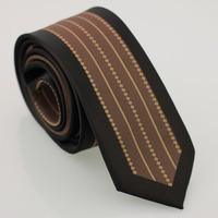 YIBEI Coachella ties Black Bordered Neck Ties Brown Stripes & Grids Tie Jacquard Necktie Narrow Ties Handmade Neckties For Man