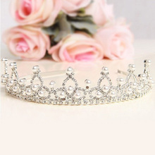 New Hot Crystal Pearl Crown Veil Hairwear Tiara Wedding Bridal Party Prom Jewelry hair comb free