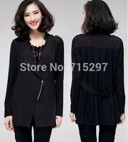 fashion women big size cool simple new design loose slim spring autumn plus size blazer long sleeves outwear female coat XXXL