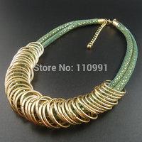 Gold New Design Rhinestone Handmade Chain Big Bib Chunky Choker Ethnic Statement Necklaces Jewelry For Women