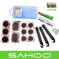 SAHOO dazzle colour tire repair kit bicycle repair tools Multi-function mountain bike repair tools