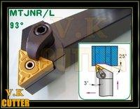 93Deg,25x25mm Shank MTJNR2525M16 CNC Lathe External Tool Holder,for TNMG1604 Insert  free shipping to all countries